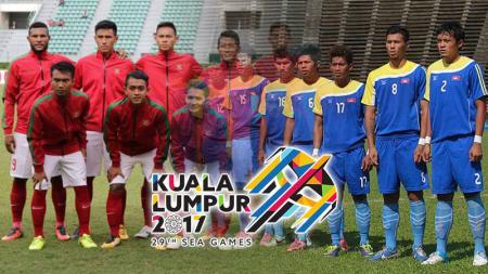 Indonesia vs Kamboja. - INDOSPORT
