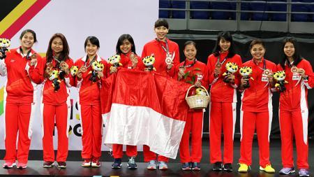 Perjuangan atlet Indonesia di ajang SEA Games 2019 Filipina bisa disaksikan melalui siaran langsung televisi lokal. - INDOSPORT