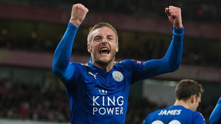 Jamie Vardy, striker Leicester City. Copyright: INDOSPORT