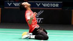 Indosport - Ihsan Maulana Mustofa melakukan selebrasi dengan mengaum.