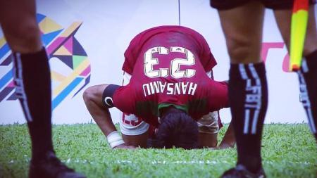 Bek Timnas U-22 Indonesia, Hansamu Yama. - INDOSPORT