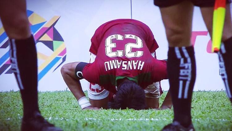 Bek Timnas U-22 Indonesia, Hansamu Yama. Copyright: Instagram/HansamuYama