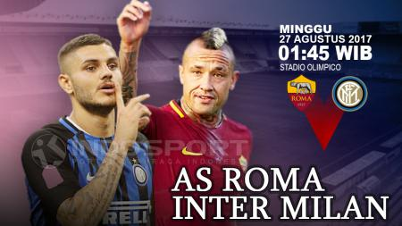 AS Roma vs Inter Milan. - INDOSPORT