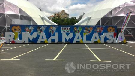 Suasana di sekitar Stadion Bukit Jalil saat ajang SEA Games 2017. - INDOSPORT