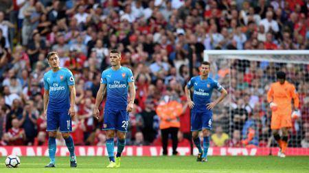 Kapten tim Arsenal, Granit Xhaka, buka suara soal kekalahan kontra Watford. - INDOSPORT