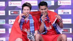 Indosport - Tontowi/Liliyana berhasil menjuarai Kejuaraan Dunia Bulutangkis 2017.