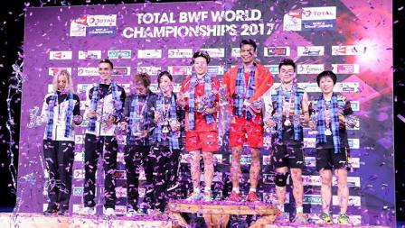 Pasangan ganda campuran Indonesia, Tontowi/Liliyana berhasil menjuarai Kejuaraan Dunia Bulutangkis 2017.