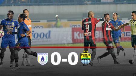 Hasil pertandingan Persipura Jayapura vs Persib Bandung. - INDOSPORT