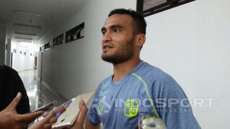 Rizky Pora menilai Barito Putera seharusnya tidak berada di zona degradasi Liga 1 2019 dengan materi pemain yang memperkuat tim. - INDOSPORT