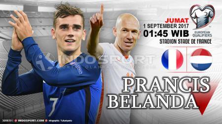 Susunan Prancis vs Belanda. - INDOSPORT