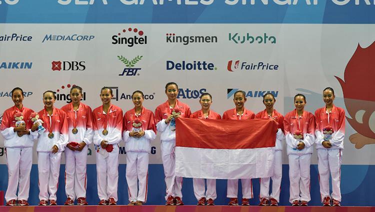Kontingen Indonesia hanya menempati posisi lima perolehan medali SEA Games 2015 Copyright: Antara/Wahyu Putro