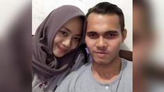 Indosport - Rezaldi Hehanusa dan kekasihnya Andita Priliasti