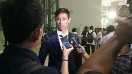 Gavin Kwan Adsit tiba di Bandara Soekarno-Hatta. - INDOSPORT