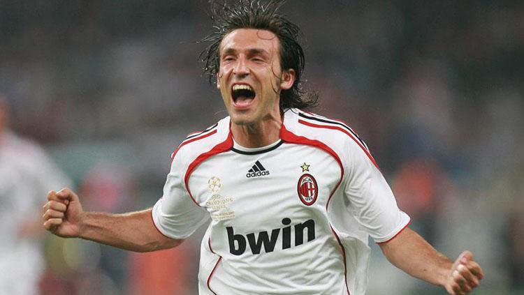 Selebrasi Andrea Pirlo usai memenangkan gelar Liga Champions 2007. Copyright: Getty Images