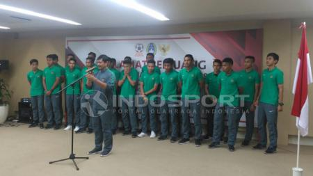Pelepasan Timnas U-19 ke Myanmar untuk mengikuti Piala AFF. - INDOSPORT