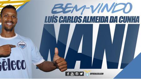Lazio mendapatkan Luis Nani jelang ditutupnya bursa transfer. - INDOSPORT