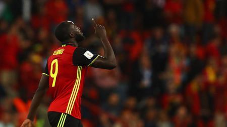 Romelu Lukaku berhasil mencetak sejarah setelah mencetak brace pada laga Kualifikasi Euro antara Belgia vs San Marino. - INDOSPORT