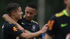 Indosport - Philippe Coutinho dan Neymar.