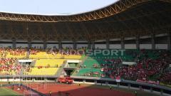 Indosport - Stadion Patriot Chandrabhaga, yang rencananya akan menjadi venue laga pekan keenam Shopee Liga 1 2019 antara Bhayangkara FC vs Persib Bandung.