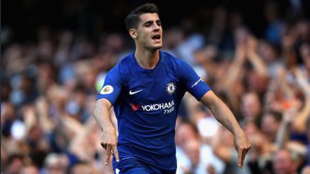 Alvaro Morata, striker Chelsea. - INDOSPORT