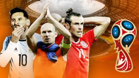 Kiri-kanan: Lionel Messi, Arjen Robben, dan Gareth Bale. - INDOSPORT