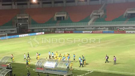 Stadion Pakansari yang menjadi salah satu venue Liga 1 2021 akan menerapkan prokes sangat ketat. - INDOSPORT