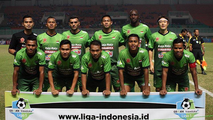 Skuat PS TNI saat melawan Bhayangkara FC. Copyright: Bhayangkara FC