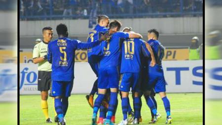 Selebrasi pemain Persib Bandung. - INDOSPORT
