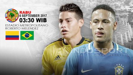 Prediksi Kolombia vs Brasil. - INDOSPORT