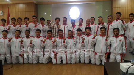 Skuat pelajar Indonesia yang akan turun di Piala Pelajar Asia U-18. - INDOSPORT