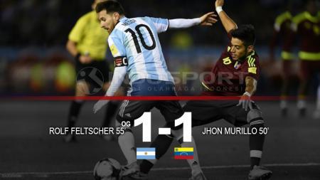 Hasil pertandingan Argentina vs Venezuela. - INDOSPORT