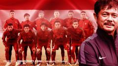 Indosport - Indra Sjafri dan skuat Garuda Muda Indonesia.