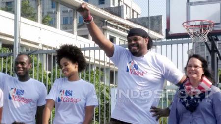 Acara NBA Junior Indonesia bersama Sam Perkins. - INDOSPORT