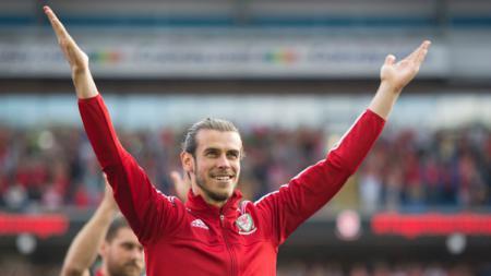 Bintang klub Liga Spanyol, Gareth Bale saat memperkuat Timnas Wales. - INDOSPORT
