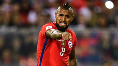 Arturo Vidal saat memperkuat Timnas Chile. - INDOSPORT