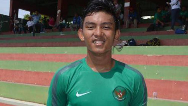 Rafli Mursalim, pencetak gol ke-8 Timnas saat mengalahkan Filipina. Copyright: @Agiramadhani
