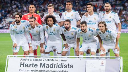 Skuat Real Madrid musim 2017/18. - INDOSPORT
