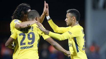 Edinson Cavani, Kylian Mbappe, dan Neymar - INDOSPORT
