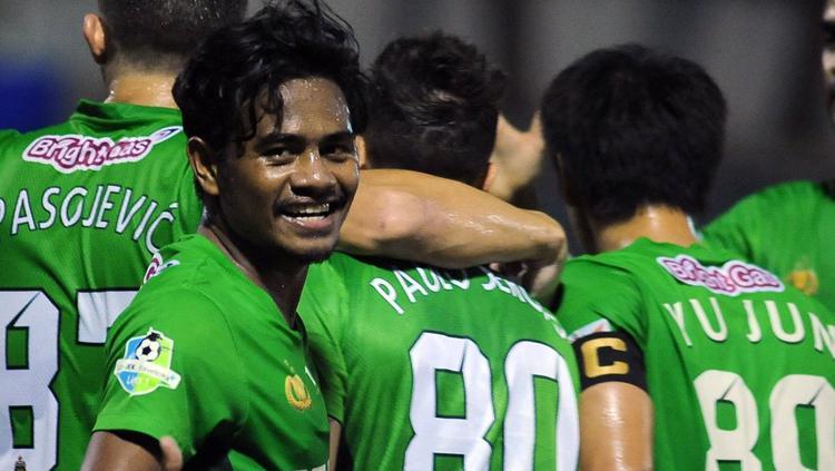 Ilham Udin Armaiyn bawa Bhayangkara melesat ke puncak klasemen Liga 1. Copyright: PT LIB