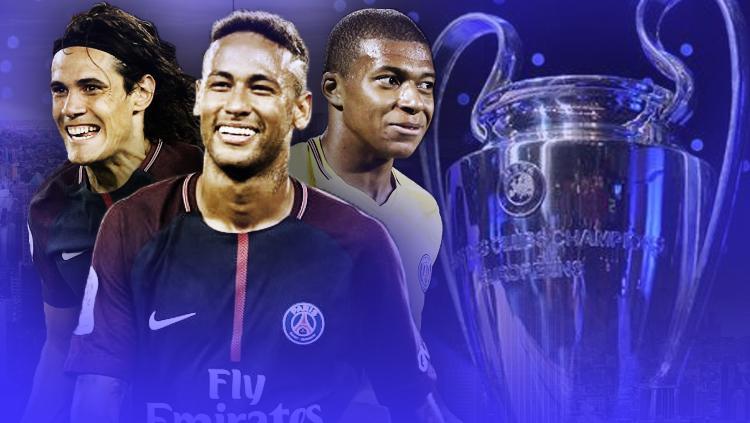 Edinson Cavani, Neymar, dan Kylian Mbappe. Copyright: Grafis: Eli Suhaeli/INDOSPORT