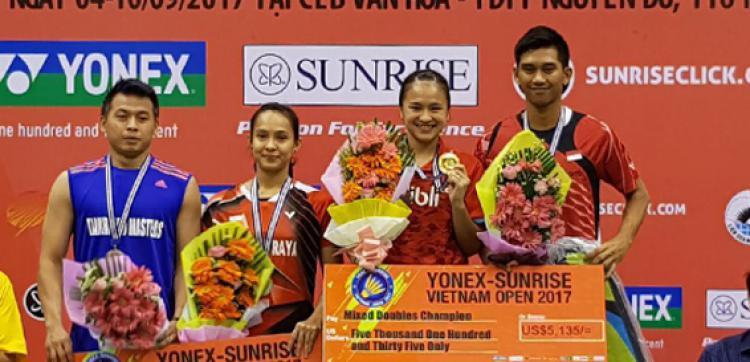 Dua wakil Indonesia juara di Vietnam GP 2017 Copyright: badmintonindonesia.org