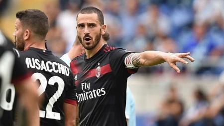 Leonardo Bonucci saat melawan Lazio. - INDOSPORT