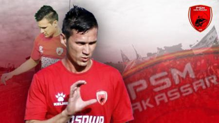 Striker PSM Makassar, Pavel Purishkin. - INDOSPORT