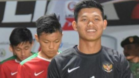 Kiper Timnas U-19, Muhammad Riyandi. - INDOSPORT