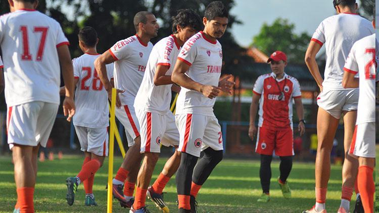 Suasana latihan pemain Persija Jakarta di Bali. Copyright: Media Persija