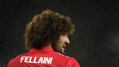 Penggawa Manchester United, Marouane Fellaini. - INDOSPORT