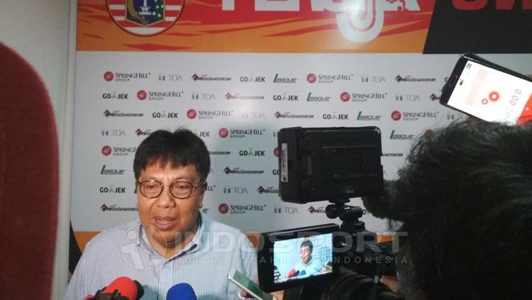 Direktur Utama Persija Jakarta, Gede Widiade. Copyright: Muhammad Adiyaksa/INDOSPORT