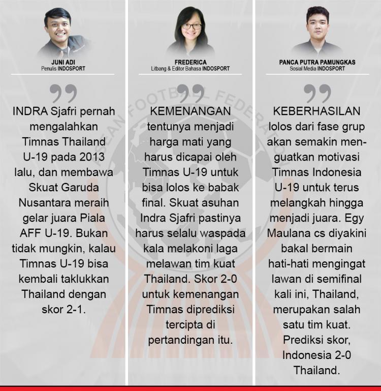 Komentar Indosport Indonesia vs Thailand. Copyright: Grafis:Yanto/Indosport/com