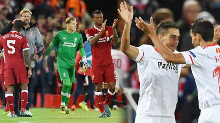 Liverpool ditahan Sevilla dengan skor 2-2 dalam laga Liga Champions Grup E. - INDOSPORT