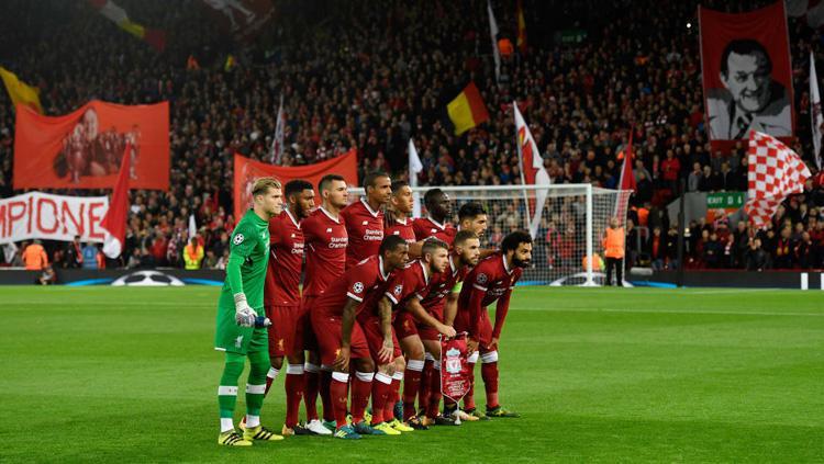 Skuat Liverpool pada laga Liga Champions Grup E melawan Sevilla. Copyright: INDOSPORT